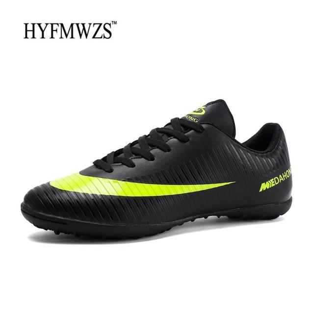 cd2040f4683c2 HYFMWZS 2018 barato Chuteira Futebol Krasovki niños botas de fútbol  Superfly Original TF de fútbol zapatos