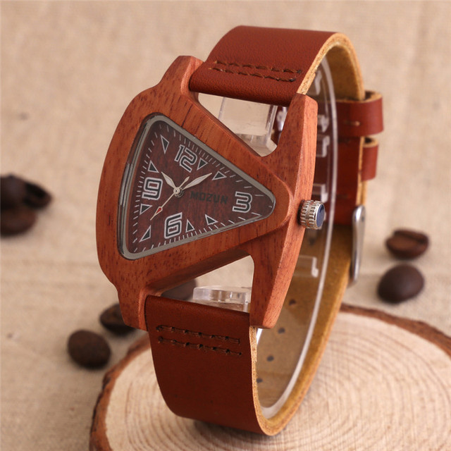 2016 Sandalwood Wood Watch Men Luxury Watches MOZUN Quartz Watch Women Dress Wat