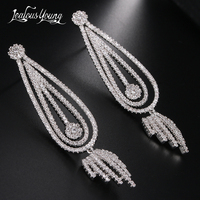 fb4f6792a97a Luxury Ethnic Multicolor CZ Crystal Wedding Party Drop Earrings For Women  Yellow Gold Color Leaf Dangle. Pendientes de lujo étnicos ...