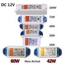 3 Years Warranty  42W 60W Lighting Transformers 18W 28W 48W 72W 100W LED Driver for Strip Power Supply to 12V DC