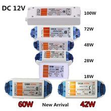 New Arrival 42W 60W Lighting Transformers High Quality 18W 28W 48W 72W 100W LED Driver for LED Strip Power Supply to 12V DC