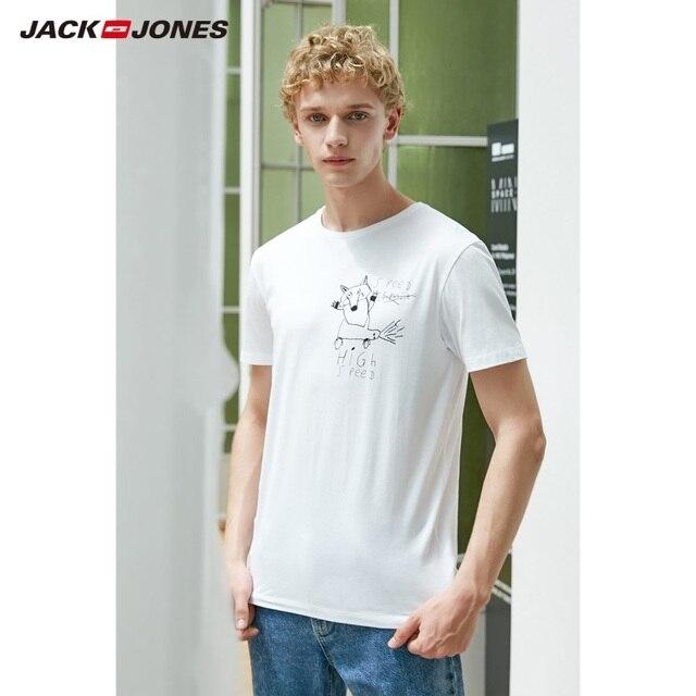 JackJones גברים של 100% כותנה מודפס קצר שרוולים חולצה E | 219101554