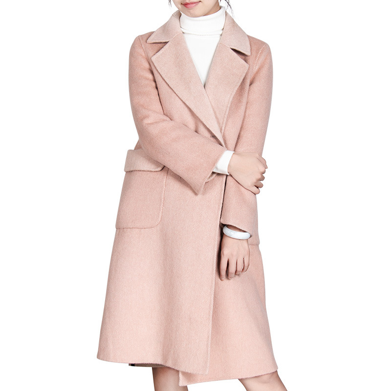 2018 Femmes Automne Hiver Cassic Simple De Laine Long manteau Femelle Survêtement manteau femme