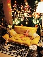 Модный пол диван кровать 5 передач Регулируемый диван плед японская мебель гостиная раскладной Съемный холст диван