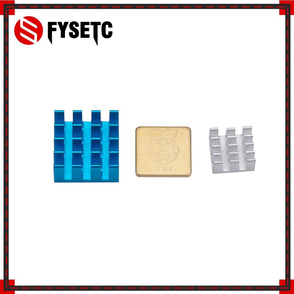 3pcs/set Controller Computer Most Durable Blue Sliver Cooper Heatsink For Raspberry Pi 3,pi 2,pi Model B+(set Of 3 Heat Sinks)