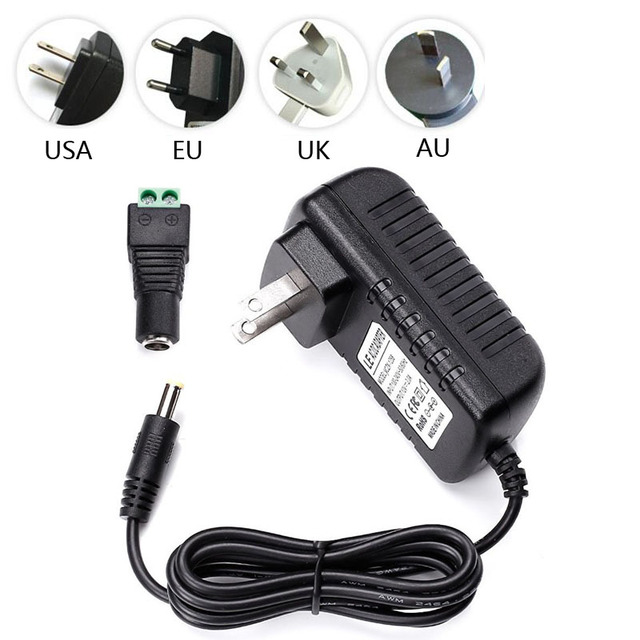 US $3 5 |12V 1 5A Switching Power Supply Adapter Constant Voltage  Transformer for LED Strips Light EU/USA/UK/AU standard with DC conector-in  Lighting