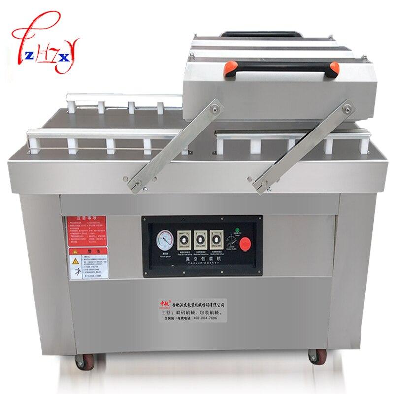 Machine de cachetage de cuisson scellée sous vide à sec-humide de double chambre de scelleurs de nourriture sous vide d'affaires automatiques 1 pc