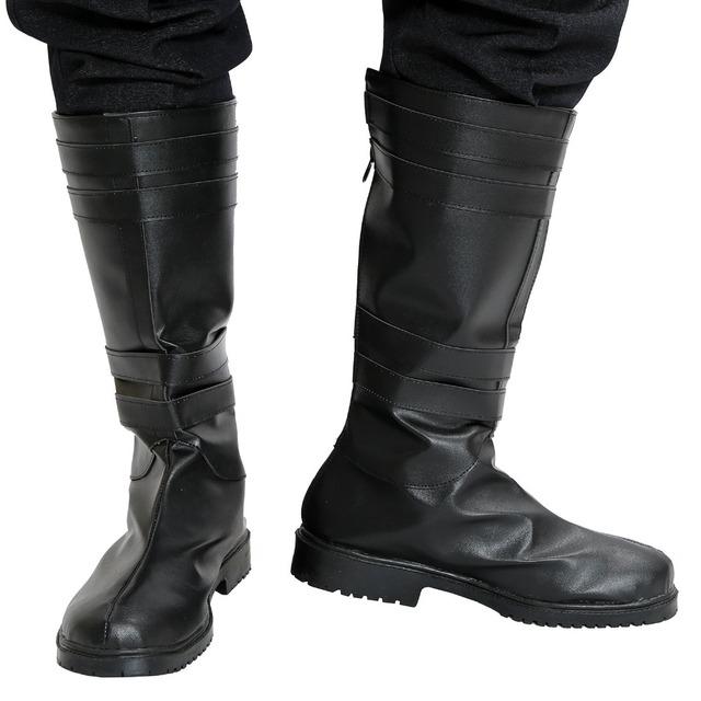 Xcoser kylo ren botas deluxe película cosplay adulto negro pu botas altas de star wars the force despierta accesorios del traje de la navidad