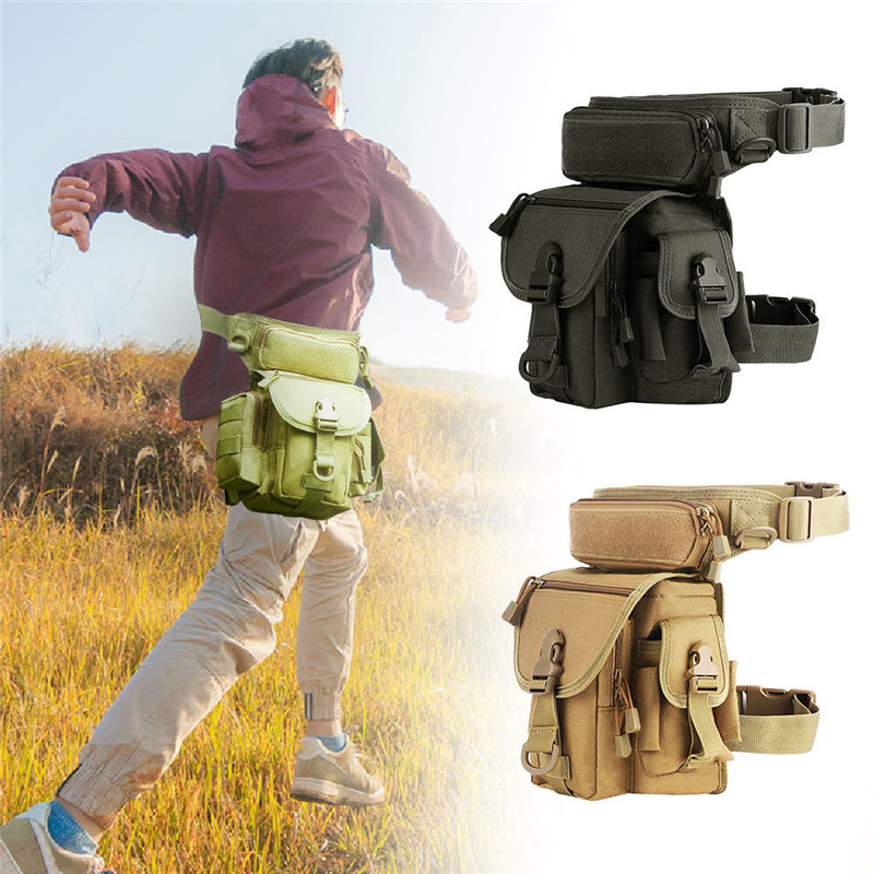 Outdoor Drop Leg Pouch Military Waist Pack Belt Bag Hiking Riding Cycling Bag Professional Drop Utility Thigh Pouch boya by mm1 compact on camera video microphone youtube vlogging recording mic for iphone nikon canon dslr smooth q feiyu gimbal