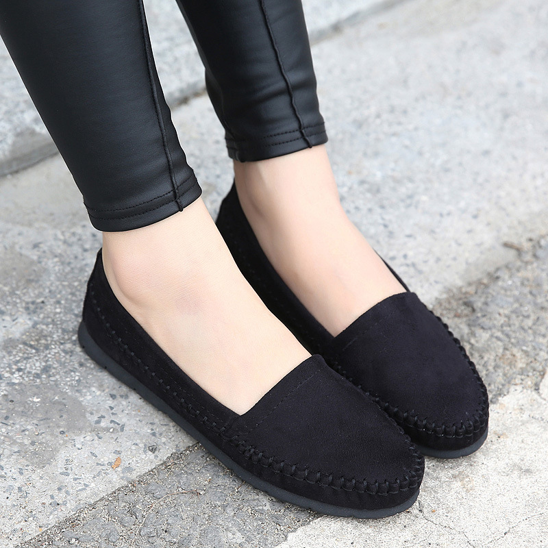 Ladies Brown Slip On Shoes