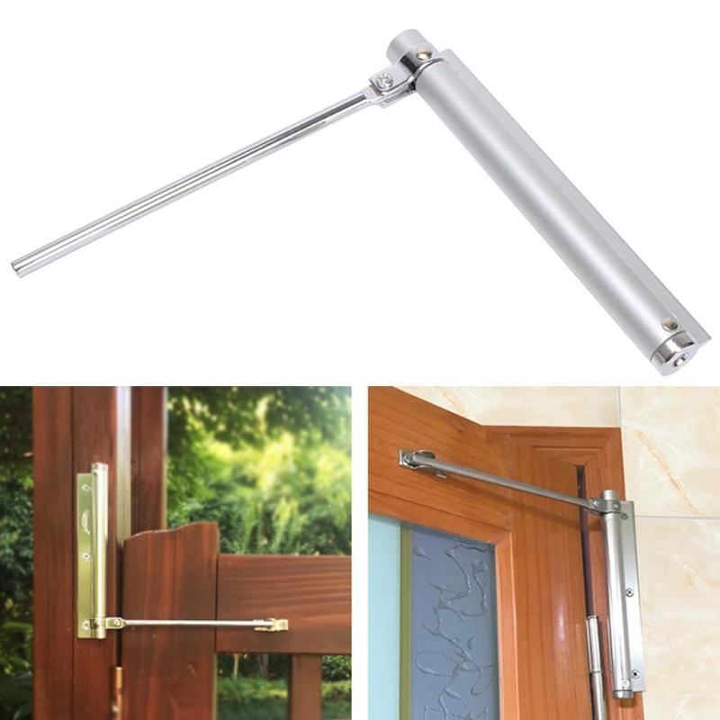 Space Aluminum Adjustable Surface Mounted Auto Closing Door Closer Home Fittings