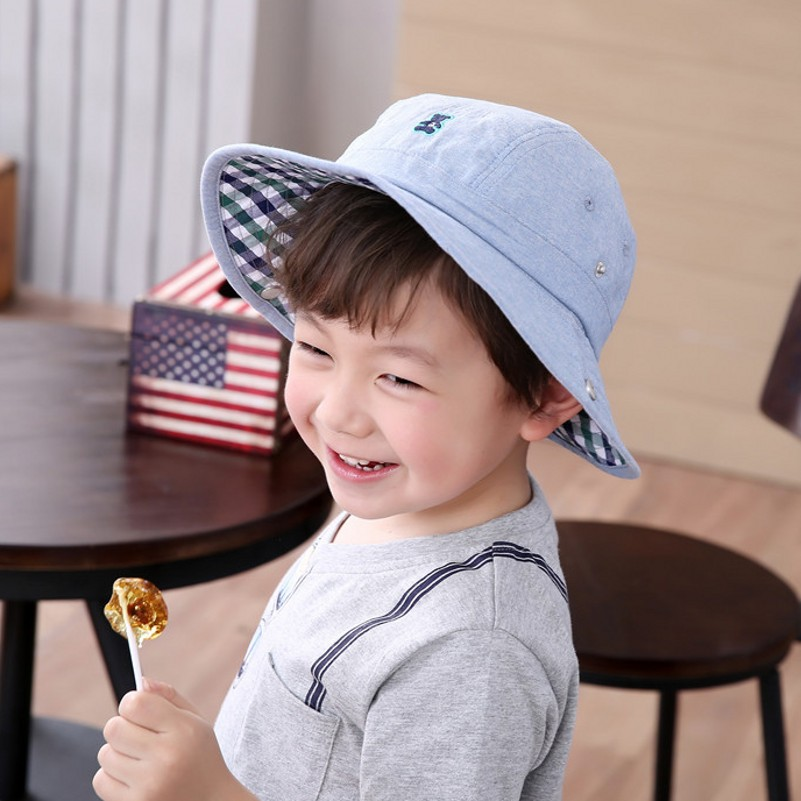 251320ac6338c Baby Cowboy Hat Kids Blue Jean Sun Hats Boy Summer Caps With Chin Strap  Kids Bucket Hat 0 7Y Children Sun Visor-in Hats & Caps from Mother & Kids  on ...