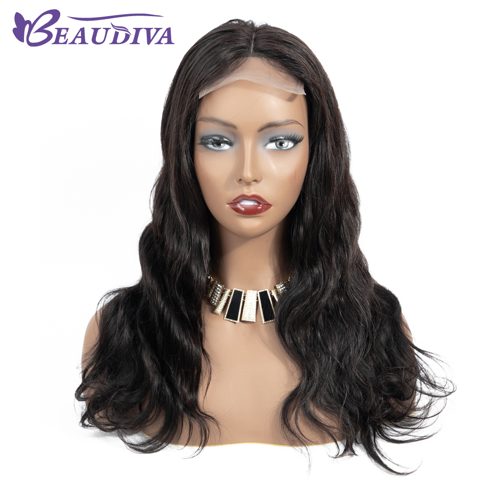 Lace Closure Human Hair Wigs 4*4 BEAUDIVA Brazilian Body Wave100% Human Hair Wig Lace Wigs With Baby Hair for Black Woman-in Lace Front Wigs from Hair Extensions & Wigs    1