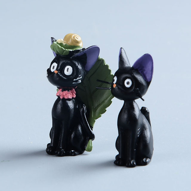 Hayao Miyazaki Anime Ponyo On The Cliff Princess Mononoke Kodama Black Cat Jiji Mini Action Figures Studio Ghilbli Kids Toys