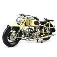 Creative Classic Motorcycle 1960 R60 2 Iron Model Handmade Retro Design Metal Ornaments Collection Gifts For