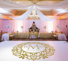 Hot Sale Wedding Floor Stickers Waterproof Decoration Vinyl Dance Floor Decal Personalized Removable Wedding Sticker ZA103C