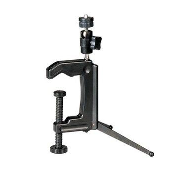 Mini trípode giratorio portátil c-clamp para videocámara de cámara DSLR SGA998