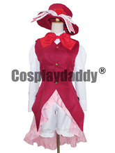 Vocaloid Kagamine Red Dress Alice in Musicland Cosplay Costume K002