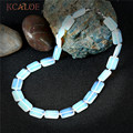 KCALOE White Opal Statement Necklace Colar Feminino Square Natural Stone Wedding Jewelry Chokers Necklaces For Women Gift