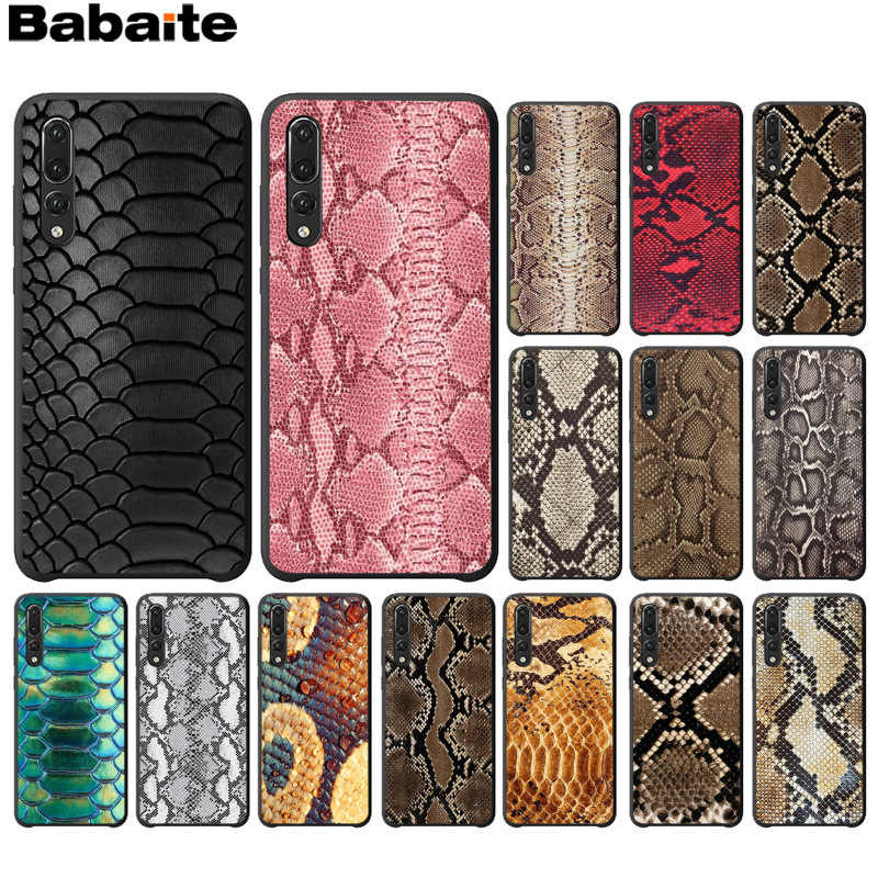 Babaite snake skin art Pattern TPU Soft Phone Cell Phone Case for Huawei P10 plus 20 pro P20 lite mate9 10 lite honor 10 view10