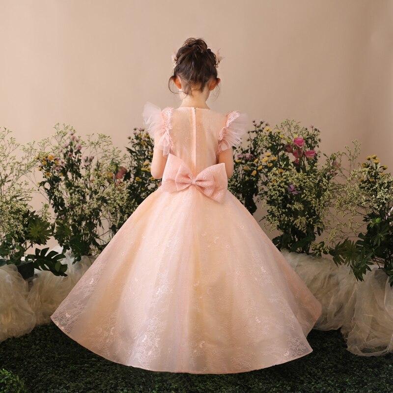 Fleur mère fille robes vêtements de mariage maman et fille robe robe de bal maman filles robe de soirée famille correspondant tenues - 4