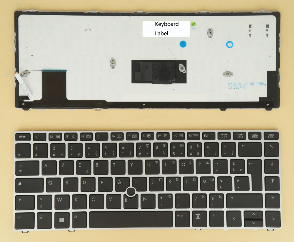 New notebook Laptop keyboard for  HP  Elitebook folio 9470m 9480m  697685-051 backlit Fr / french  layout