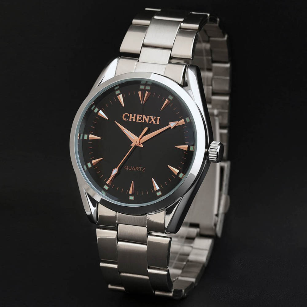 New Business watches brand men wristwatch steel quartz gold watch men fashion casual watch Men Dress