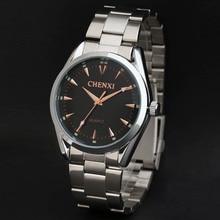 Новый Бизнес часы бренд мужской наручные часы стали кварцевые золотые часы мужчины моды случайные часы Мужчины Платье часы relogio masculino