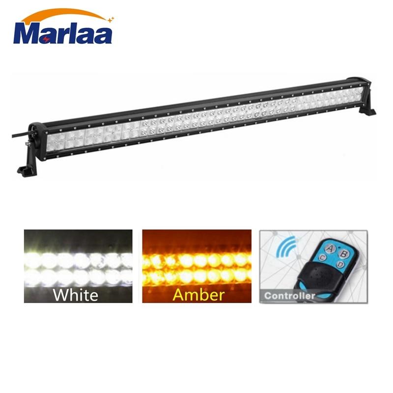 Led Flood Light Flashing: LED Light Bar 42 Inch 240W Flashing White Amber Light Spot