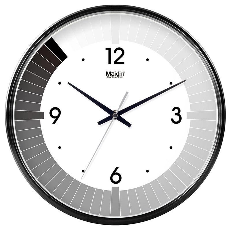 Maidin Creative Gradient Modern Design Digital Wall Clocksilence