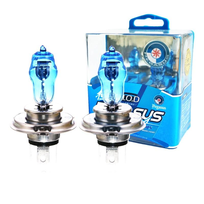 2x H4 9003 100 Вт Супер Белые HOD Ксеноновые галогенные лампы, автомобильный головной светильник, галогенные фары, светильник s, противотуманный св...