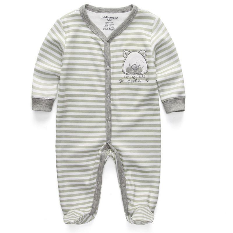 Newborn Baby Boy Girl Romper 100% Cotton Long Sleeve Unisex Infant Bebe Clothing Cartoon Boy Clothes Bear Anti-Scratch Gloves baby s sets boy girl clothes with baby tops pants 100% cotton long sleeve newborn clothing criancas definir roupas de bebe