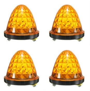 10x Truck Amber LED 12V 24V Car Truck Trailer Rear Lights Caravan Side Marker Lights Clearance tail Lamp External lights