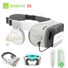 BOBOVR Z4 Update BOBO VR Z5 120 FOV 3D Cardboard Helmet Virtual Reality Glasses Headset Stereo Box for 4.7-6.2′ Mobile Phone