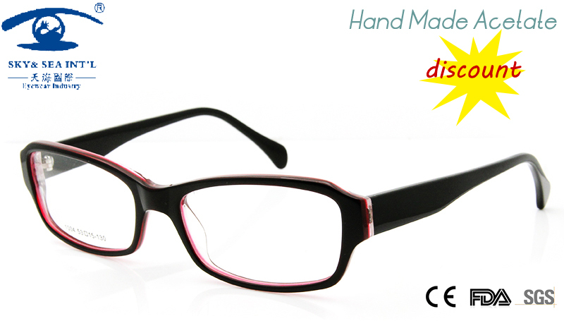 2015 cheap glasses frame women hand made acetate customized prescription eyeglasses oculos square fashion frame china