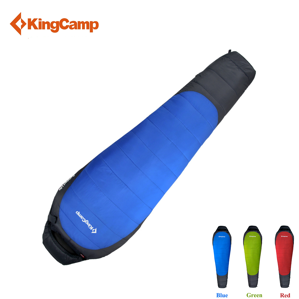 KingCamp Outdoor Mummy Sleeping Bag Cotton Lazy Bag Ultralight 3-Season Spring and Autumn Portable for Camping Backpacking kingcamp envelope cotton lazy bag portable ultralight flannel lined sleeping bag 2 season for camping backpacking