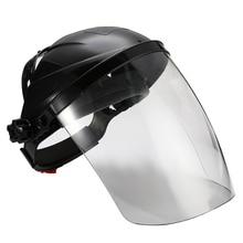 Anti choque capacete de soldagem rosto escudo máscara de solda lente transparente rosto olho proteger protetor anti uv anti choque máscara de segurança