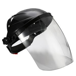 Image 1 - Anti choque capacete de soldagem rosto escudo máscara de solda lente transparente rosto olho proteger protetor anti uv anti choque máscara de segurança