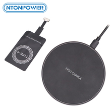 NTONPOWER Qi Wireless Charger Receiver สำหรับ iPhone Android Fast Wireless Charger 10/7.5/5W สำหรับ Micro USB Type C Charger Pad COIL