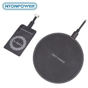 Image 1 - NTONPOWER Qi Wireless ladegerät Empfänger für iphone Android Schnelle Drahtlose Ladegerät 10/7.5/5W für Micro USB Typ C ladegerät Pad Spule