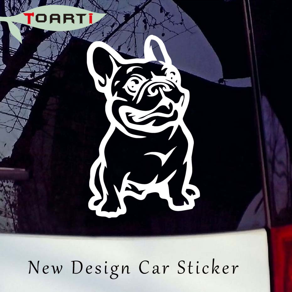 14*8CM French Bulldog Dog Car Stickers Strong Adhesive Vinyl Truck Window Decals New Design Car Styling Accessories