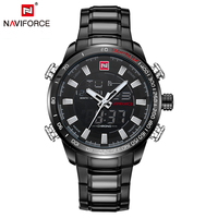 NAVIFORCE Top Brand Luxury Mens Watch Casual Digital Sport Wristwatches Waterproof Quartz Clock Army Military Relogio