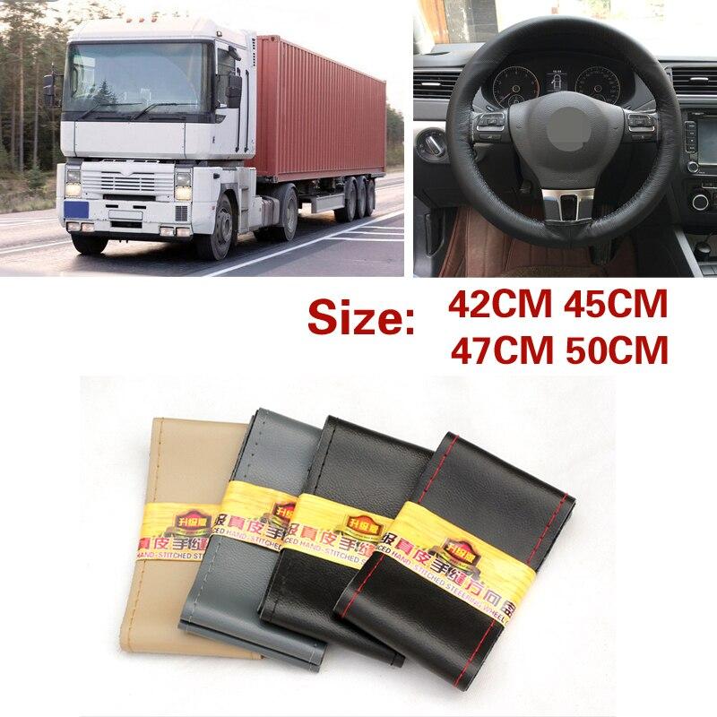 Extra large steering wheel cover for RV Truck micro fiber leather car steering wheel braid Durable 42cm 45cm 47cm 50cm