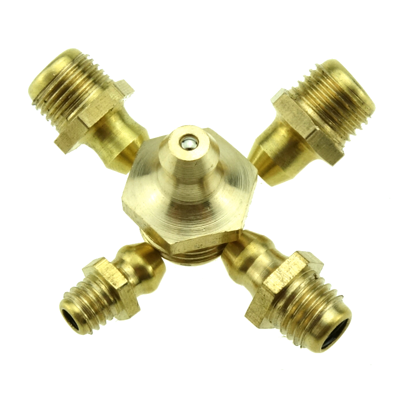 5PCS Brass Grease Nipple Oil Mouth Grease Nipple Butter Gun Fittings