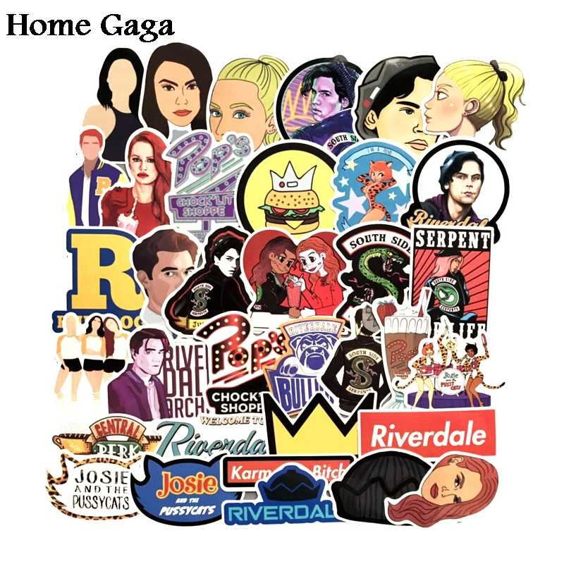 Homegaga 35pcs Riverdale tv show fans gift decoration Sticker DIY scrapbooking album Luggage Laptop Phone decal Sticker D1667