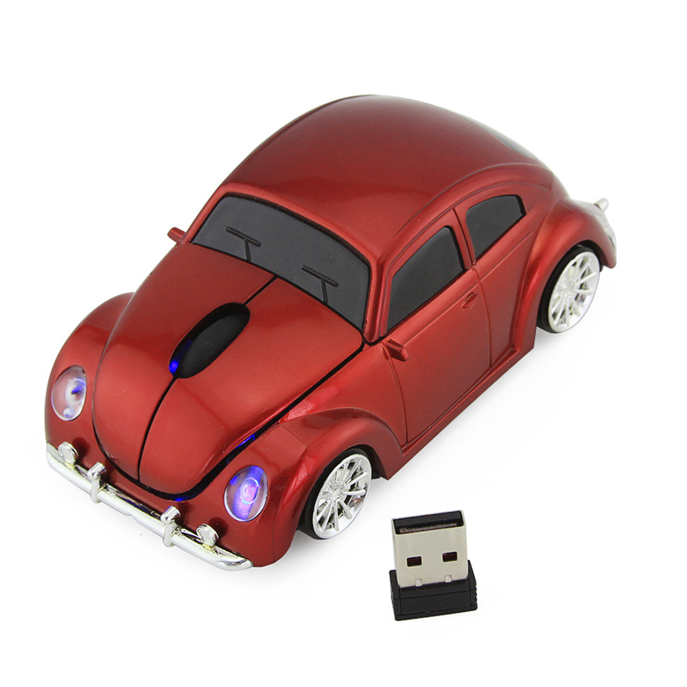 Accessories Laptop PC Wireless Mouse 2.4GHz Optical USB Home Led Battery Powered Office Ergonomic Car Shape 1000dpi Computer