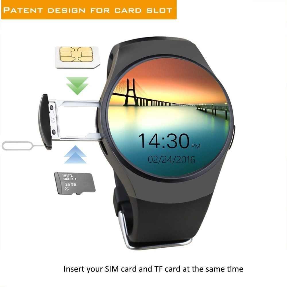 Reloj inteligente Android rastreador de salud MTK2502 soporte de notificación Bluetooth tarjeta SIM TF para Samsung Xiaomi apple android IOS