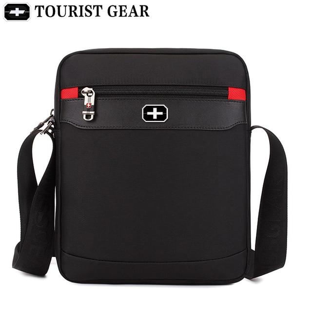 Vintage Oxford black swiss bags mens shoulder bag man Waterproof messenger crossbody bags for men 2019 bandolera hombre