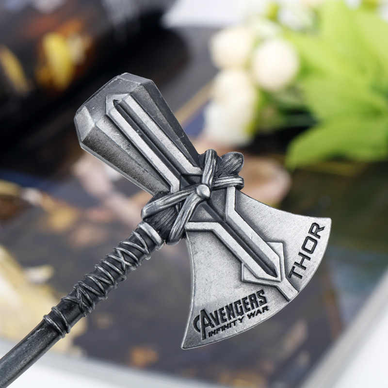Avengers Endgame Thor Stormbreaker Portachiavi Cosplay Prop Accessori In Metallo Catena Chiave Portachiavi Tempesta ascia Thor Odinson