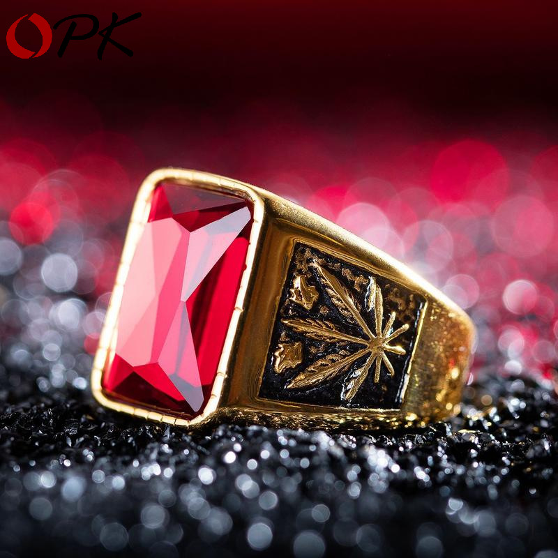 Special Counter Maple Leaf signet man turkish supernatural ring men thomas sabor jewelry natural stone cabochons good luck